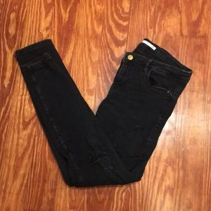 Distressed Zara black jeggings sz 08 us